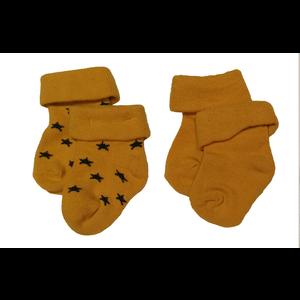 NOPPIES NOPPIES unisex 2 pack sokken honey yellow levi stars