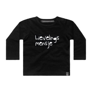 YOUR WISHES longsleeve lievelingsmensje black nos