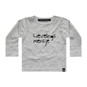 YOUR WISHES longsleeve lievelingsmensje grey nos