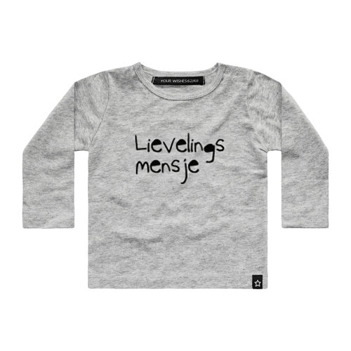 YOUR WISHES Your Wishes longsleeve lievelingsmensje grey nos