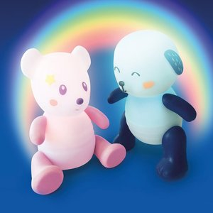 Pabobo Pabobo lumilove nachtlamp rainbow dog blue