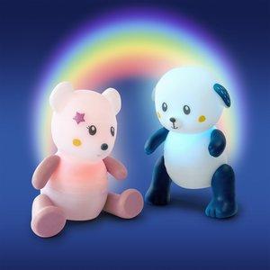 Pabobo Pabobo lumilove nachtlamp rainbow mouse pink