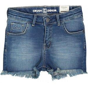 CRUSH DENIM meisjes korte broek mid blue daisy
