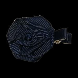 PRINSESSEFIN Baby speld met roos marineblauw