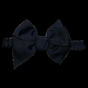 PRINSESSEFIN haarband met grote strik marineblauw