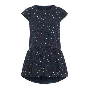 NAME IT meisjes jurk dark sapphire dots
