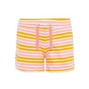 NAME IT meisjes korte broek bright white stripes cadmium yellow/geranium pink