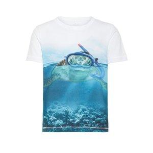 NAME IT jongens t-shirt bright white turtle