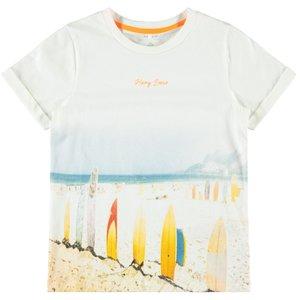 NAME IT jongens t-shirt bright white orange pop