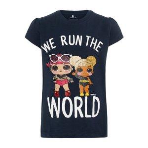 NAME IT meisjes t-shirt dark sapphire L.O.L. suprise