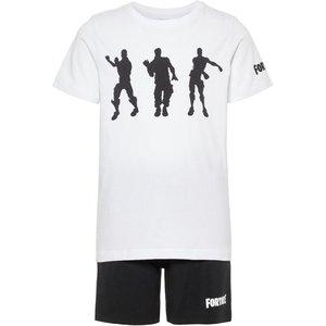 NAME IT jongens pyjama set bright white fortnite