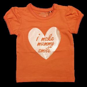 NAME IT meisjes t-shirt emberglow