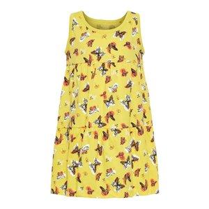 NAME IT meisjes jurk primrose yellow aop butterflies