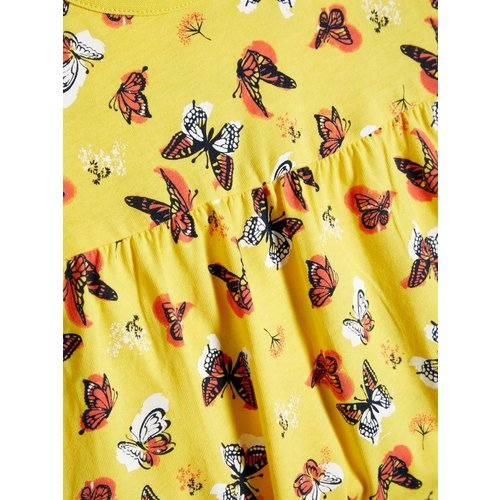 NAME IT Name it meisjes jurk primrose yellow aop butterflies