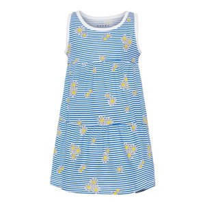 NAME IT meisjes jurk bright white aop blue stripes and flowers