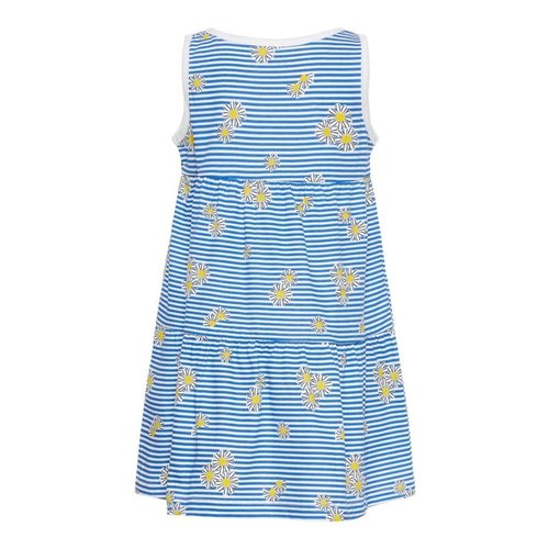 NAME IT Name it meisjes jurk bright white aop blue stripes and flowers