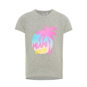 NAME IT meisjes t-shirts grey melange