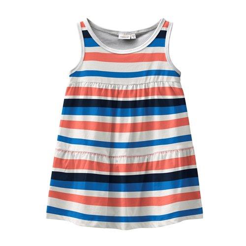 NAME IT Name it meisjes jurk bright white aop stripes