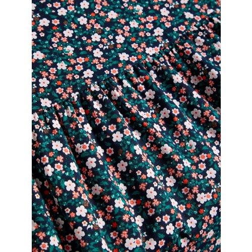 NAME IT Name it meisjes jurk dark sapphire aop flowers