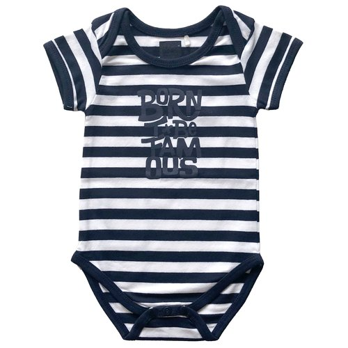 BORN TO BE FAMOUS Born To Be Famous jongens romper white/navy stripe nos