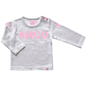 BORN TO BE FAMOUS meisjes longsleeve white/pink nos
