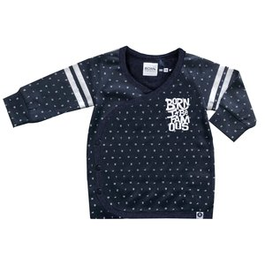 BORN TO BE FAMOUS jongens longsleeve navy aop nos