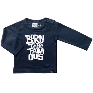 BORN TO BE FAMOUS jongens longsleeve navy/white nos