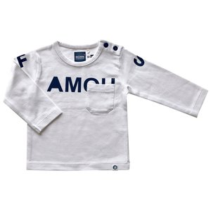 BORN TO BE FAMOUS jongens longsleeve white/navy nos
