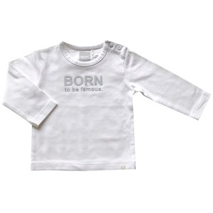 BORN TO BE FAMOUS unisex longsleeve white nos