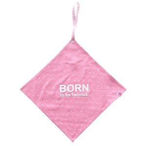 BORN TO BE FAMOUS meisjes speen doek pink aop nos