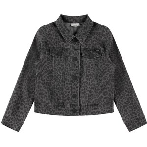 NAME IT meisjes denim jas dark grey