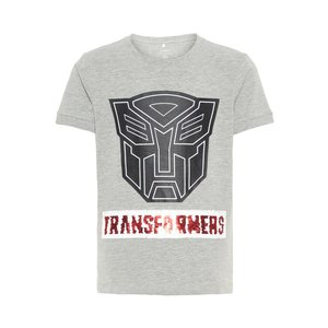 NAME IT jongens t-shirt grey melange transformers