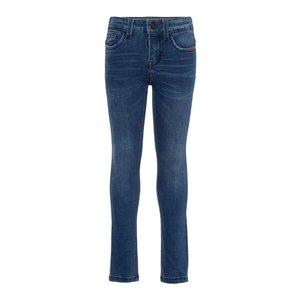 NAME IT jongens skinny jeans dark blue denim