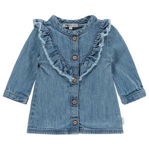 NOPPIES meisjes jurk light blue wash chelsea