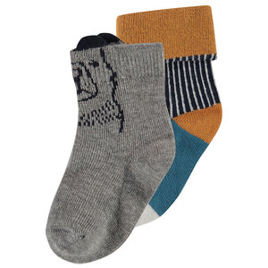 NOPPIES jongens sokken 2-pack light grey melange albemarle