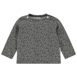 NOPPIES unisex longsleeve grey melange quzhou
