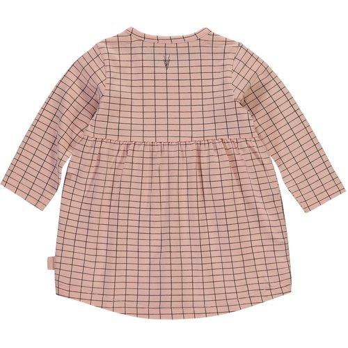 LEVV LEVV meisjes jurk dusty pink grid imani newborn nos