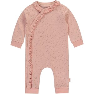 LEVV meisjes romper dusty pink small dot isabel newborn nos
