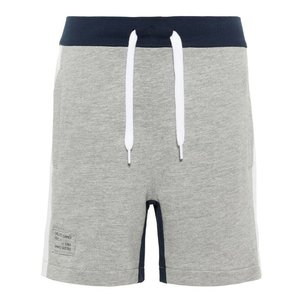 NAME IT jongens korte broek grey melange