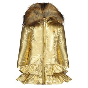 LE CHIC meisjes jas fields of gold met ruches
