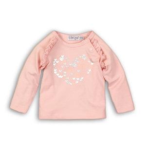 b3acc0eaa7a441 DIRKJE BABYKLEDING meisjes longsleeve light pink so soft love