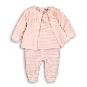 DIRKJE BABYKLEDING meisjes 3 delige set light pink + light pink stripe so soft hello