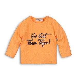 DIRKJE BABYKLEDING jongens longsleeve faded orange so bright go get them tiger