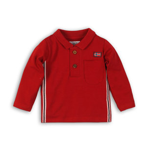 DIRKJE BABYKLEDING jongens polo red so fresh always be yourself