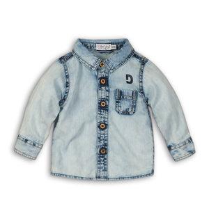 DIRKJE BABYKLEDING jongens blouse light blue jeans so soft looking for you