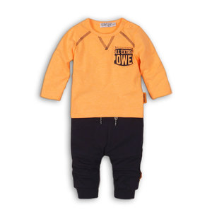 DIRKJE BABYKLEDING jongens 2 delige set faded orange + navy so bright power champions
