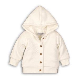 DIRKJE BABYKLEDING unisex jas off white so soft you are loved