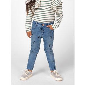 NOPPIES meisjes broek medium blue wash bonita