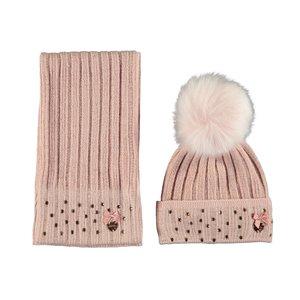 LE CHIC meisjes muts en sjaal victorian pink