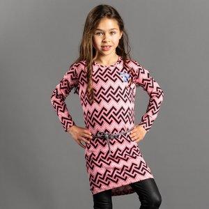 Quapi meisjes jurk winter peach zigzag tamia